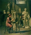 Interior of a Sculptors Studio - Johann Heiss