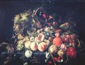 Still Life with Flowers and Fruit 2 - Cornelis De Heem