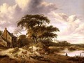 River Landscape with a Farmstead - Gerrit van Hees