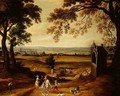 Landscape with Brussels in the distance - Theodore van Heil