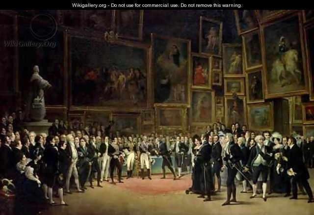 Charles X presenting awards to the artists at the end of the exhibition of 1824 - Francois - Joseph Heim