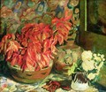 Still Life with Pointsettia - Saturnino Herran