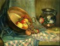 Still Life with Shawl and Pan of Fruit - Saturnino Herran