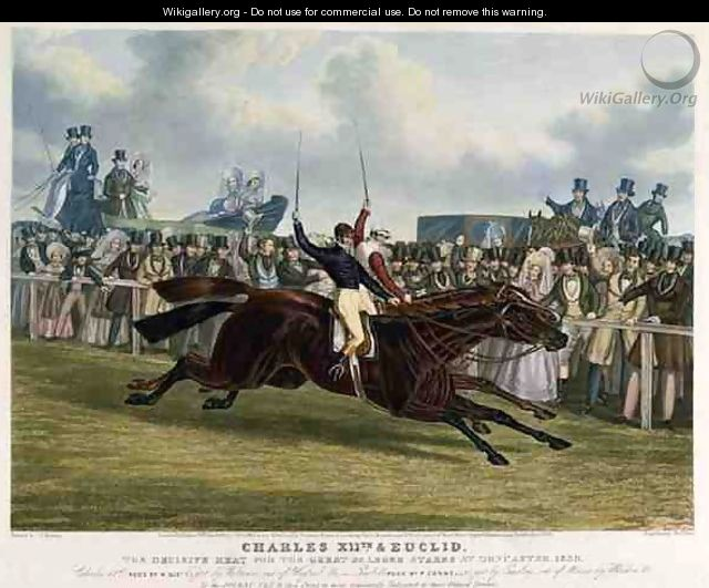 Charles XII and Euclid The Decisive Heat for the Great St Leger Stakes at Doncaster - (after) Herring Snr, John Frederick