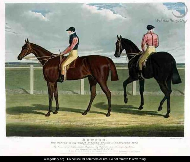 Rowton the Winner of the Great St Leger Stakes at Doncaster - (after) Herring Snr, John Frederick