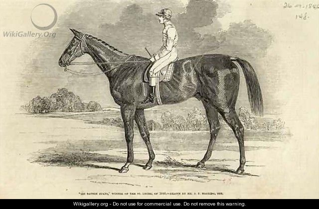 Sir Tatton Sykes Winner of the St Leger from The Illustrated London News - (after) Herring Snr, John Frederick
