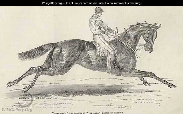 Refraction the winner of The Oaks from The Illustrated London News - (after) Herring Snr, John Frederick
