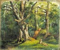 Woodland Scene with Rabbits - Sir Hubert von Herkomer