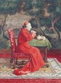 Cardinal Taking Tea - Leo Hermann