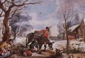 Winter Scene - Willem van, the Elder Herp