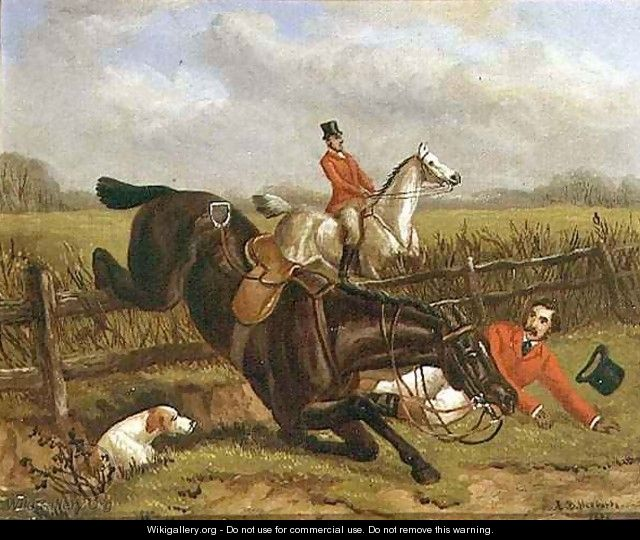 A Fall out Hunting - Edward Benjamin Herberte