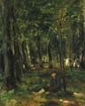 Young Farmer sitting in the Forest - Thomas Ludwig Herbst