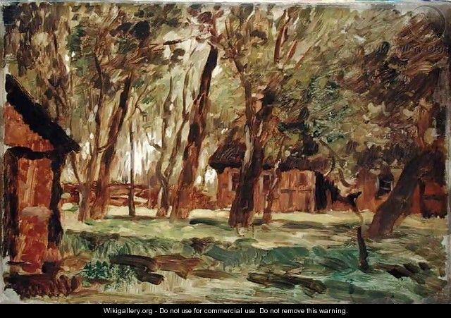 Farmstead under Trees - Thomas Ludwig Herbst