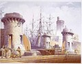 Sailors Dockside from Modern Liverpool Illustrated - William Gavin Herdman