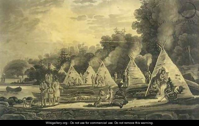 Encampment of the Domiciliated Indians - George Heriot