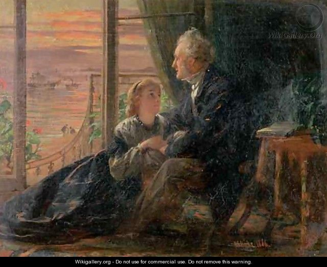 Evening Tales - George Elgar Hicks