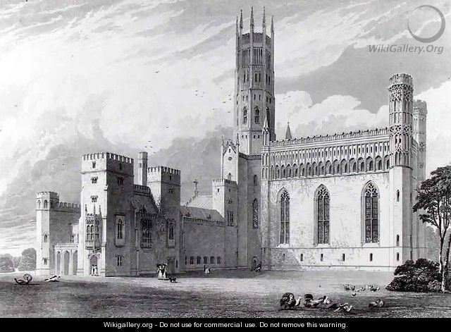 Fonthill Abbey from the south east - Thomas Higham
