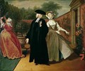 Pamela shows Mr Williams a hiding place for her letters from Pamela or Virtue Rewarded - Joseph Highmore