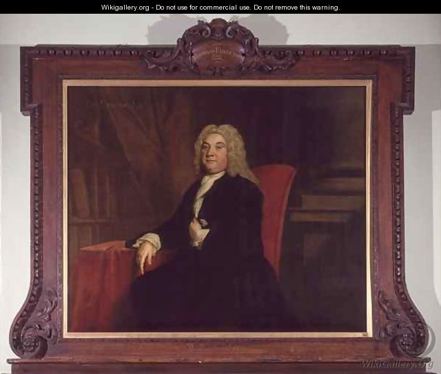 Portrait of Thomas Emerson a Governor of the Foundling Hospital - Joseph Highmore
