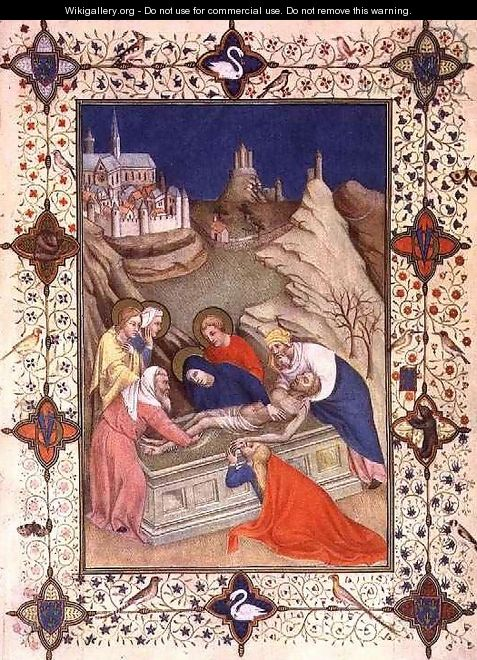 Hours of the Cross Compline The Entombment - Jacquemart De Hesdin
