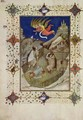 Hours of Notre Dame Tierce The angels appearing to the shepherds from the Tres Riches Heures du Duc de Berry - Jacquemart De Hesdin