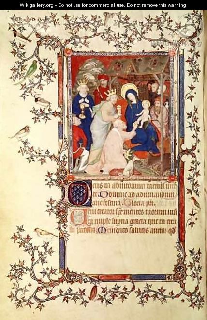The Adoration of the Magi from Les Petites Heures de Duc de Berry - Jacquemart De Hesdin