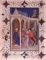 Hours of the Cross Prime Christ in front of Pilate from the Tres Riches Heures du Duc de Berry - Jacquemart De Hesdin