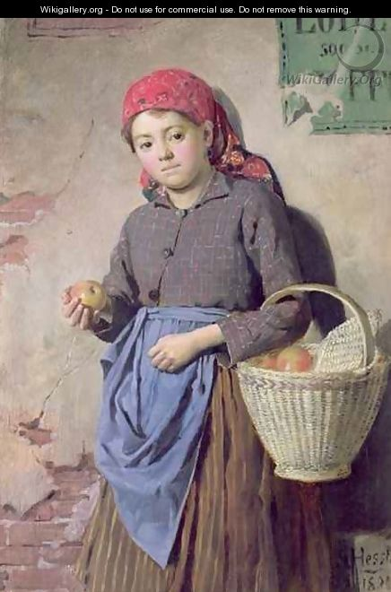 The Apple Seller - Gustav August Hessl