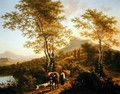 Italian Landscape with Peasants - Willem de Heusch