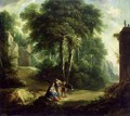 Rest on the Flight into Egypt - Johann Andreas Herrlein