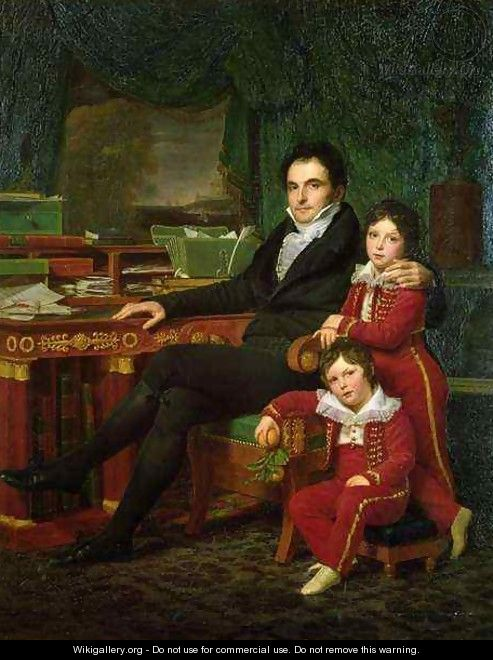 Casimir Perier 1777-1832 and his two sons - Louis Hersent