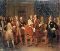 Louis XV 1710-74 Visiting Peter I 1672-1725 the Great at lHotel de Lesdiguieres - Louise Marie Jeanne Hersent