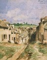 A Street in Saint Germain Seine et Oise - Louis Adolphe Hervier