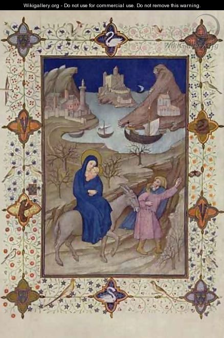 Hours of Notre Dame Vespers The Flight into Egypt from the Tres Riches Heures du Duc de Berry - Jacquemart De Hesdin