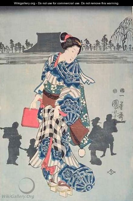 Act three of the drama Chushingura - Utagawa or Ando Hiroshige
