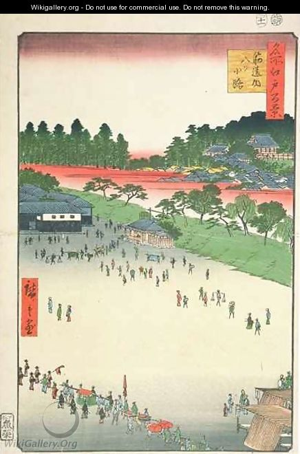 Yatsuko inside Sujikai Gate from the series One Hundred Famous Views of Edo - Utagawa or Ando Hiroshige