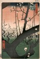 The Cherry Garden at Kameido from One Hundred views of Edo - Utagawa or Ando Hiroshige
