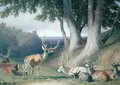 Landscape with Deer - Robert Hills