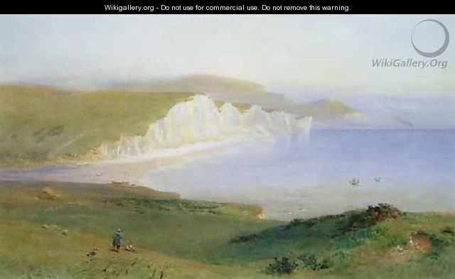 The Seven Sisters and the Mouth of the Cuckmere - Henry George Hine