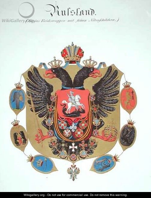 Arms and shield of the state of Imperial Russia - C. Hildebrandt
