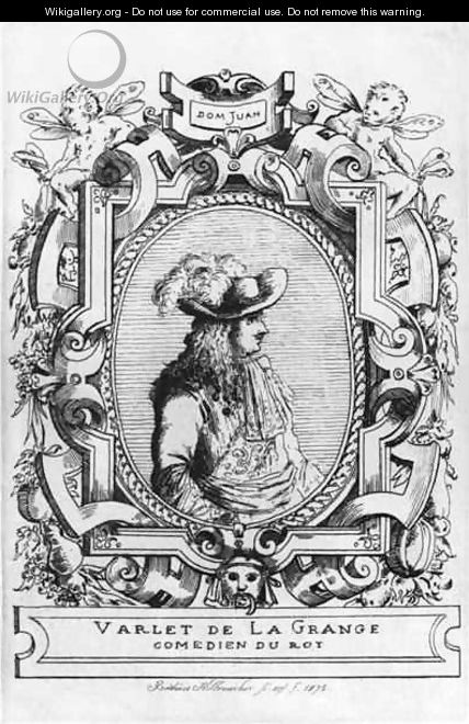 Charles Varlet known as La Grange in the role of Dom Juan from Don Juan or Le Festin de Pierre - Frederic Desire Hillemacher
