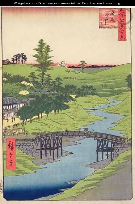 Furukawa River Hiroo from One Hundred Famous views of Edo - Utagawa or Ando Hiroshige