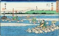 The further bank of the Oi River - Utagawa or Ando Hiroshige