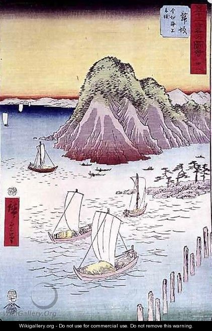 Boats on a Shore - Utagawa or Ando Hiroshige