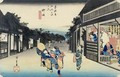 Goyu Waitresses Soliciting Travellers from the series 53 Stations of the Tokaido - Utagawa or Ando Hiroshige