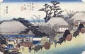 The Teahouse at the Spring Otsu from Fifty Three Stages of the Tokaido Road - Utagawa or Ando Hiroshige