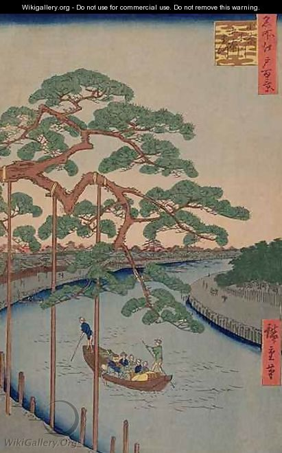 The Five Pines of the Konagi River from 100 views of Edo - Utagawa or Ando Hiroshige