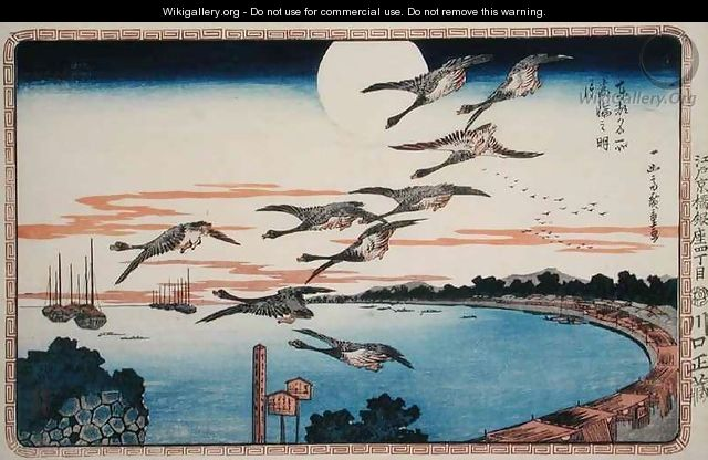 Full Moon at Takanawa from Celebrated places in the Eastern Capital of Edo - Utagawa or Ando Hiroshige