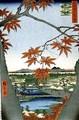 Maples at Mama from the series 100 Views of Famous Places in Edo - Utagawa or Ando Hiroshige