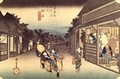 Waitresses soliciting travellers Goyu from the series 53 Stations of the Tokaido - Utagawa or Ando Hiroshige